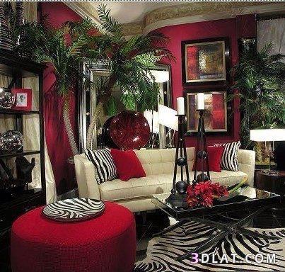 Zebra Print & Red. Nice! | Living room decor burgundy ...