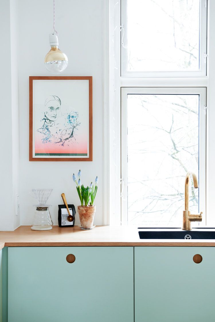 Ikea Kitchen Hack In Mint Green Kuche Kuche Grun Kuche