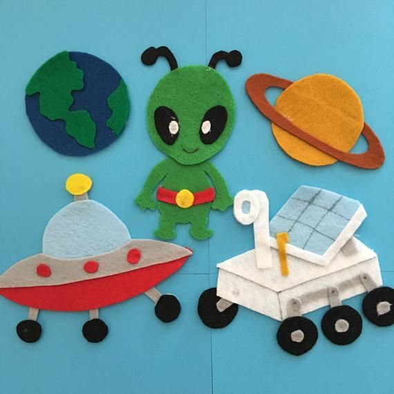 Outer Space Adventure Felt Board Patterns To Use On A Felt Or Etsy In 2020 Felt Board Patterns Felt Board Stuffed Animal Patterns