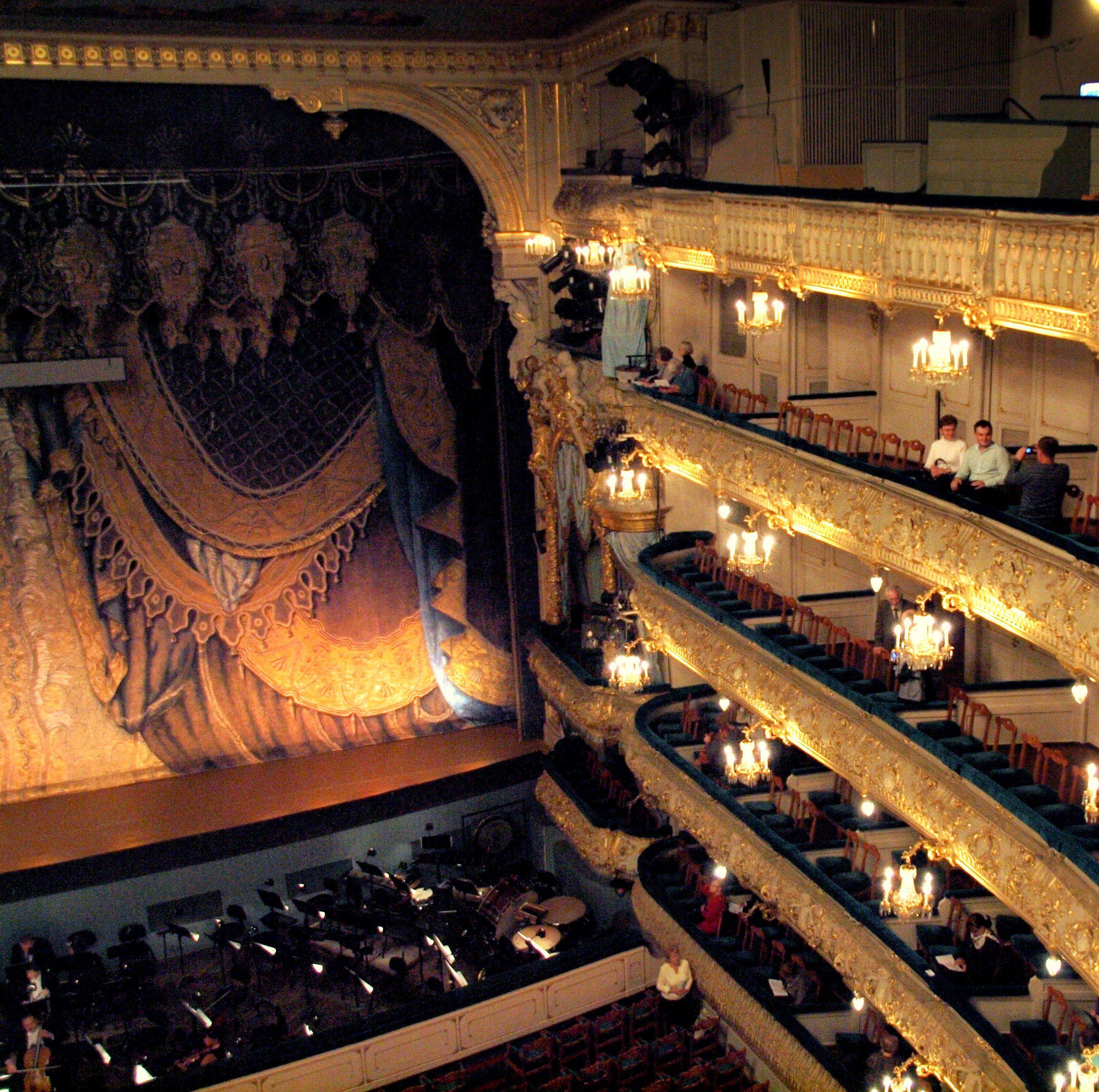 The lavish Mariinsky Theatre in Saint Petersburg, Russia