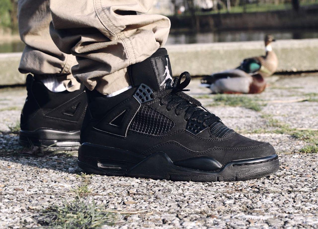 78c57c2b48c3 Air Jordan 4 Retro 05 20 2006 308497 002 Black Light  Air Jordan 4 Black  Cat 308497 002 Sneaker Bar Detroit ...