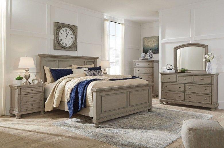 Best Lettner Light Gray King Panel Bed Wood Bedroom Sets 640 x 480