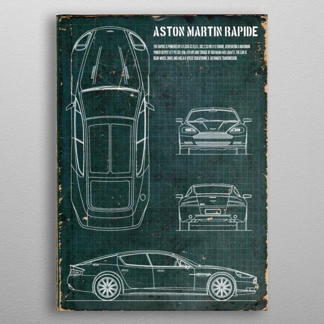 Aston Martin Rapide by FARKI15 DESIGN | metal posters - Displate | Displate thumbnail