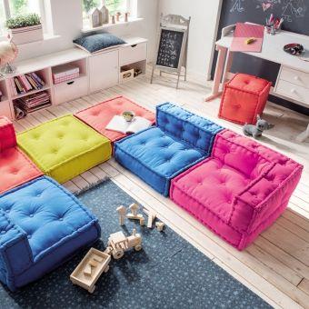 Kindersofa KIDS CUSHION, Sofa Element B / Bodenkissen, 65x65cm ... | {Kindermöbel günstig 25}