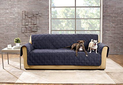 Sure Fit Sf44832 Deluxe Non Skid Waterproof Pet Sofa Furniture Cover