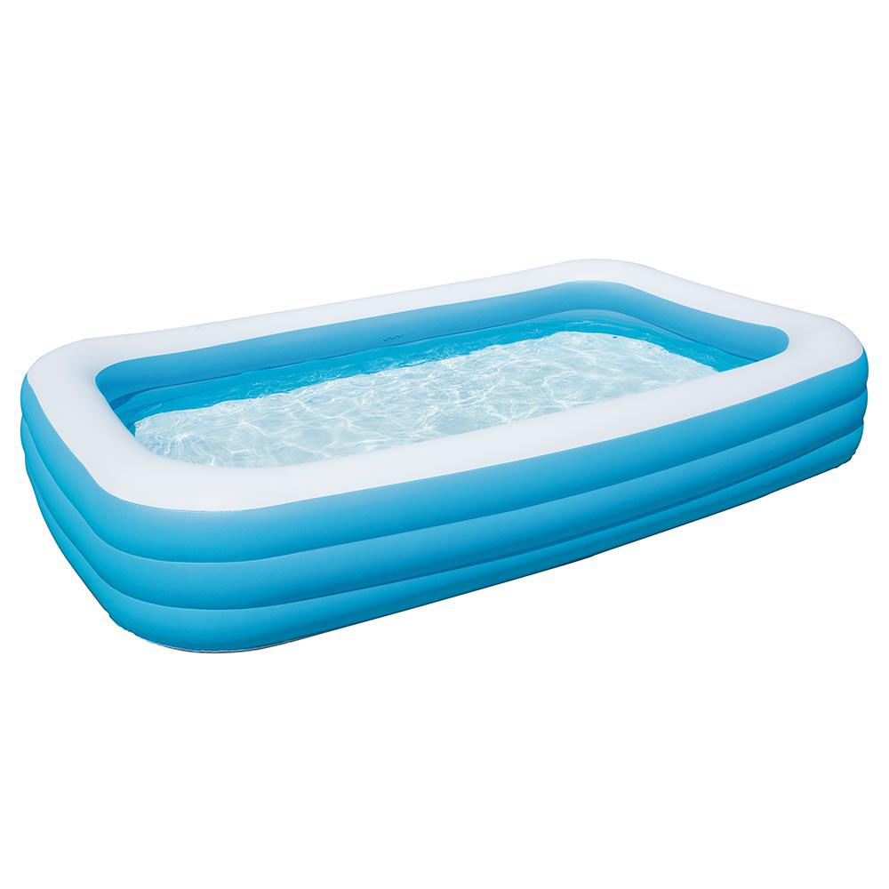 Bestway Deluxe Rectangular Family Inflatable Pool 54009e The Home Depot Family Inflatable Pool Inflatable Pool Swimming Pool House