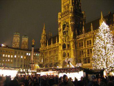 Feira de natal em Munique/Alemanha