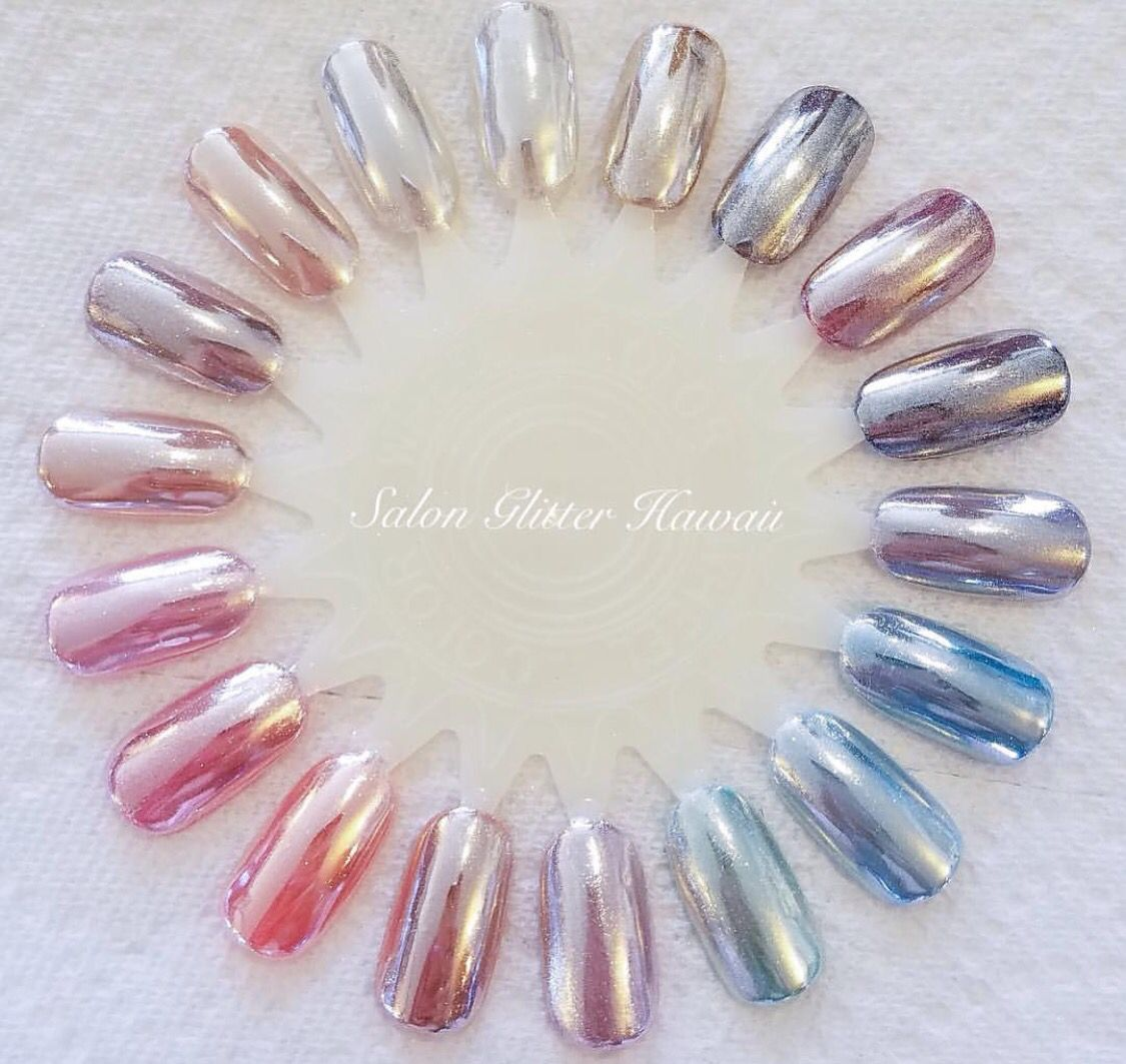 Use The Chrome With Gossip Gel From I Was Just So Excited For Nails That Went Crazy All These Colors We Can Make Literally Any