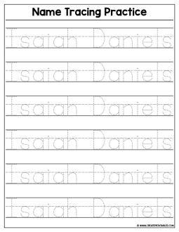 Custom Name Tracing Worksheet - Preview | Create Custom ...