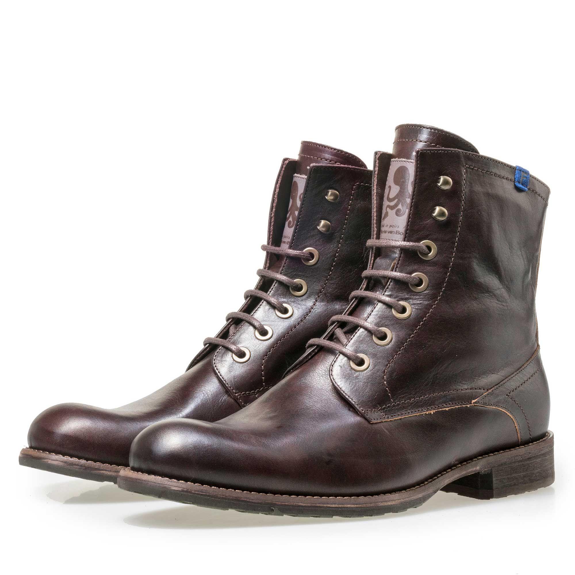 10751/08 - Floris van Bommel leren heren veterboot bruin. Cowboy BootMen's  FashionBootsDenim ...