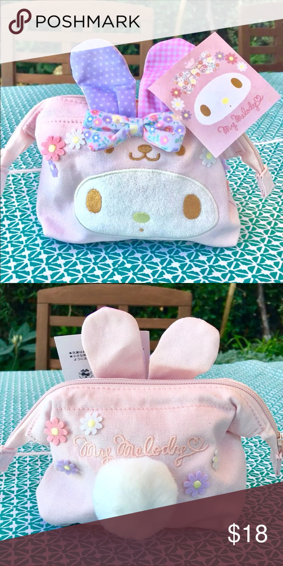 Sanrio my melody makeup cosmetic pouch bag NWT Quantity 1