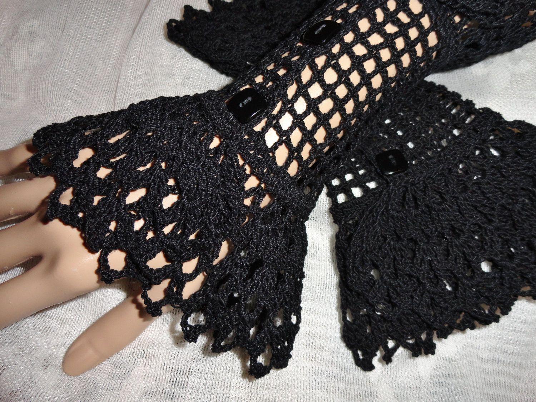 Fine crochet black gothic steampunk victorian mourning noir fine crochet black gothic steampunk victorian mourning noir neovictorian vampire halloween lace wrist cuffs vampire wiccan bankloansurffo Images