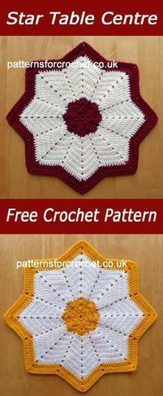 Star table center | free crochet pattern | #crochet | Patterns ...