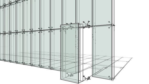 Revit Curtain Wall : Curtain panels with spider revit pinterest