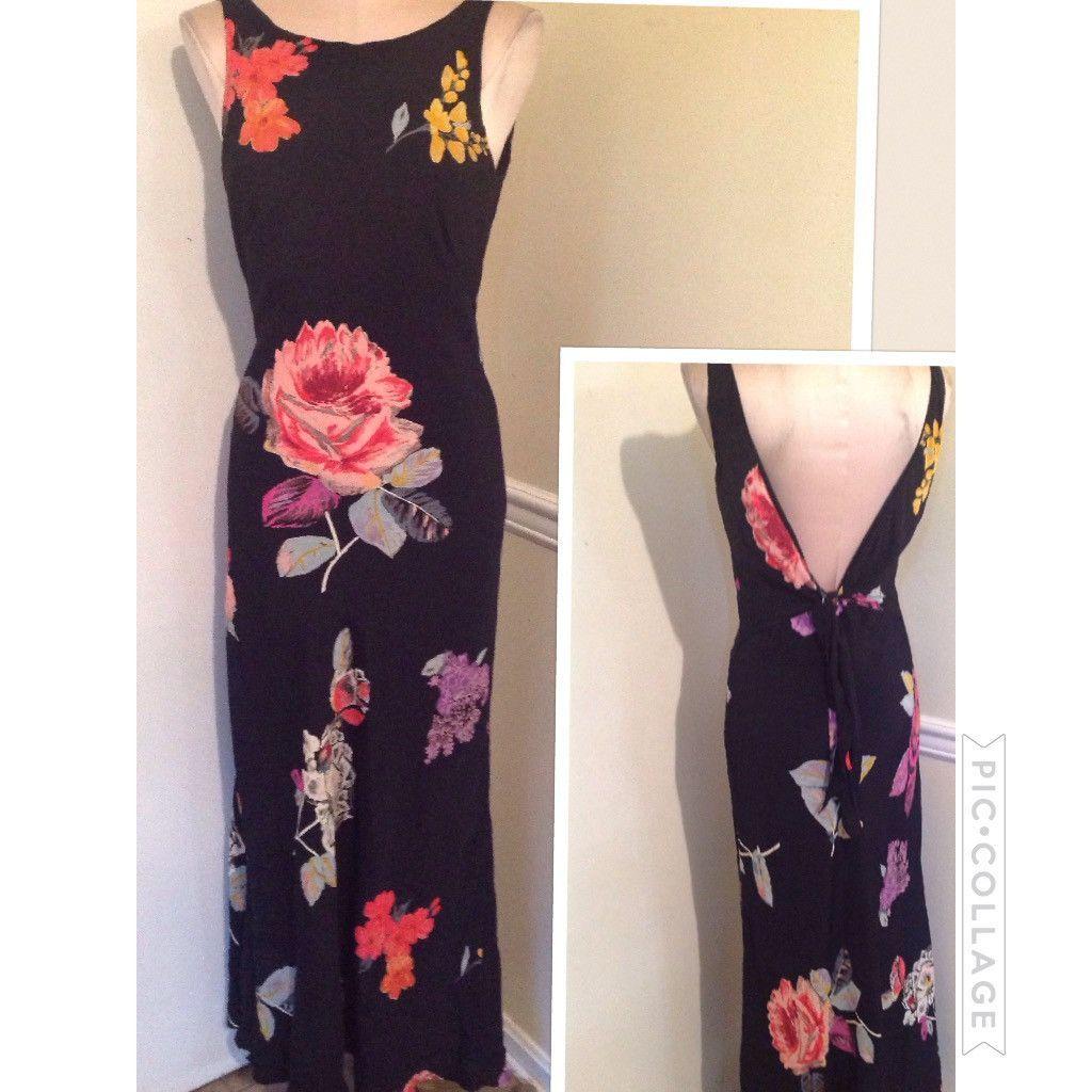 Vintage Floral Maxi Dress best fit 7/8 9/10