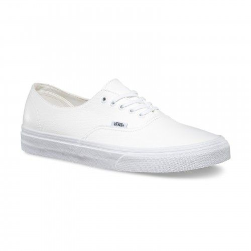 Vans Authentic Decon Shoes (Premium Leather) True White - Vans UK Official  Online Store