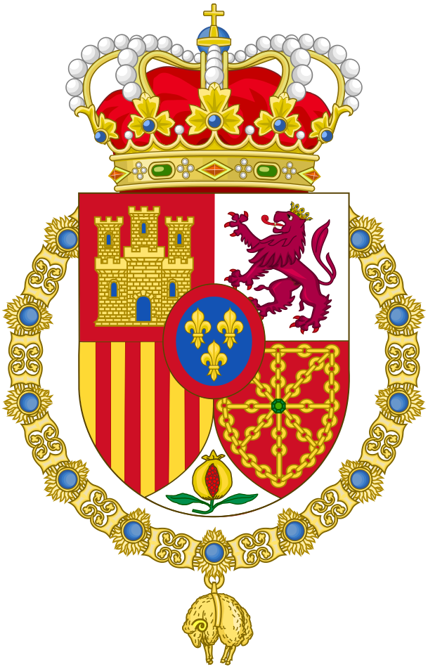 coat of arms of spanish monarch official heraldry. Black Bedroom Furniture Sets. Home Design Ideas