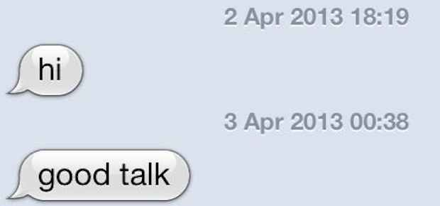 This intimate conversation: