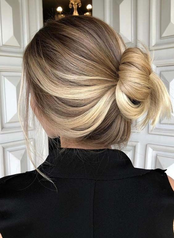 28 Fairly Balayage Ombre Bun Hairstyles for 2018 - Fairly Balayage Ombre Bun Hairstyles for 2018 -