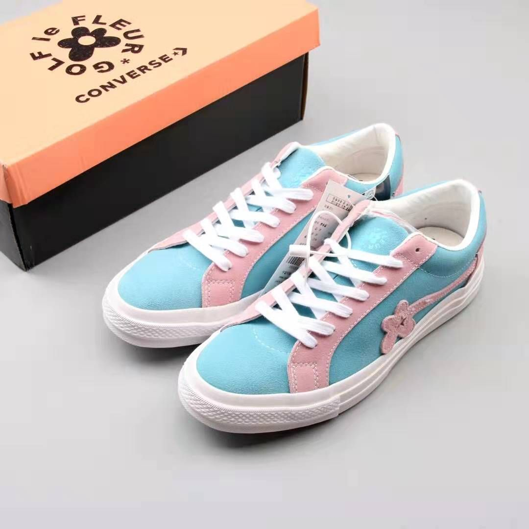 Converse One Star Ox Tyler The Creator Golf Le Fleur Two Tone Blue Pink 162127c Golf Le Fleur Shoes Converse One Star Golf Shoes