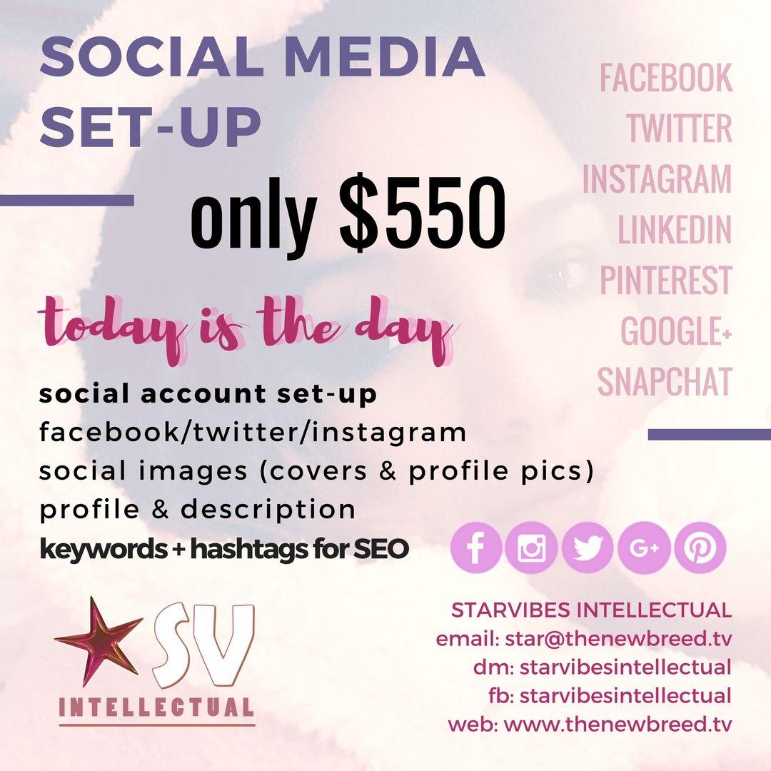 SOCIAL MEDIA SETUP only 550 social account setup