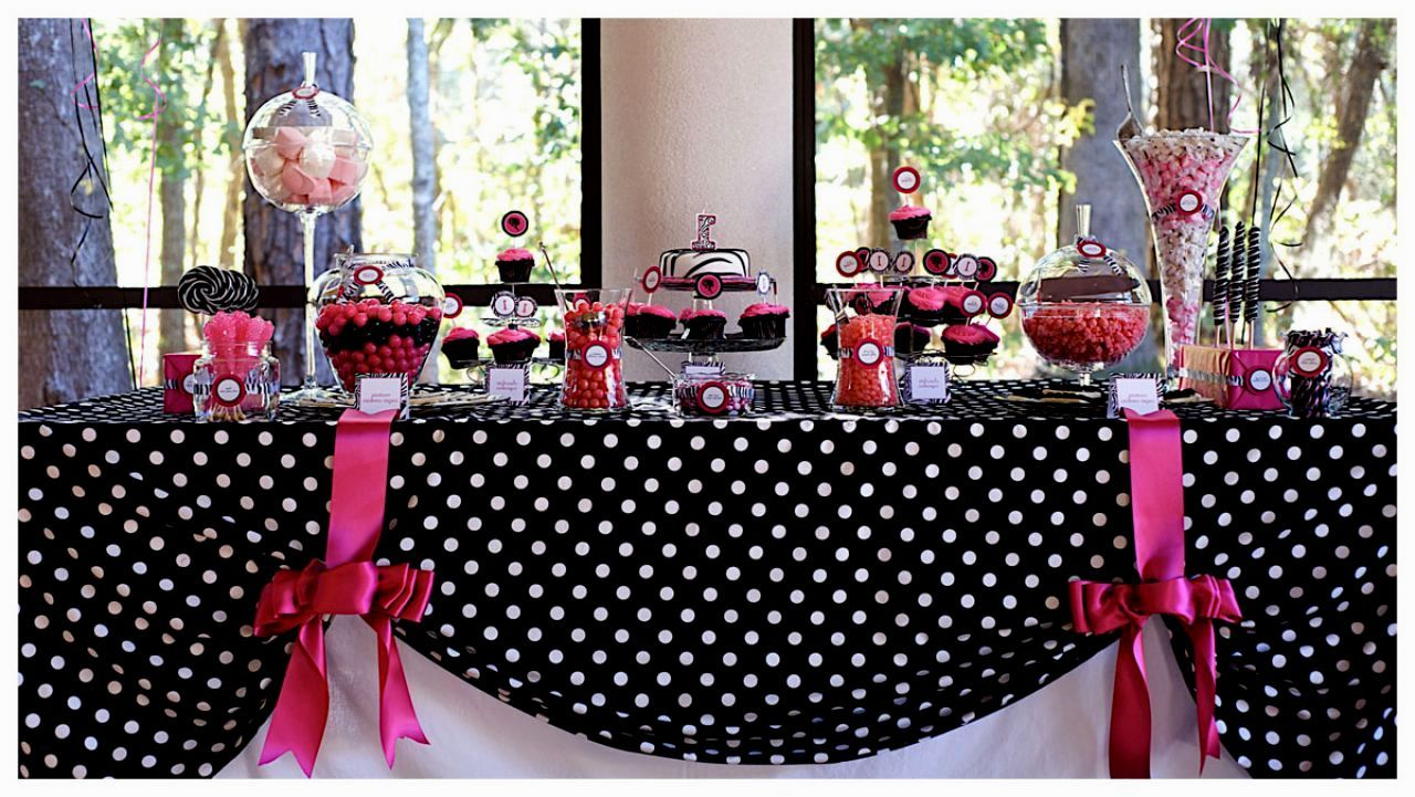 Pink Black And White Party Decorations Barbie Birthday Party Barbie Party Barbie Birthday