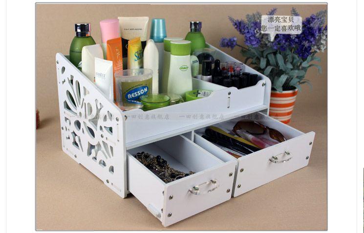 Diy Creative Desktop Storage Box With Drawer / Fashion Large Full Waterproof Cosmetics Storage Box / Bathroom Clerk Box /2013-inStorage Boxe...