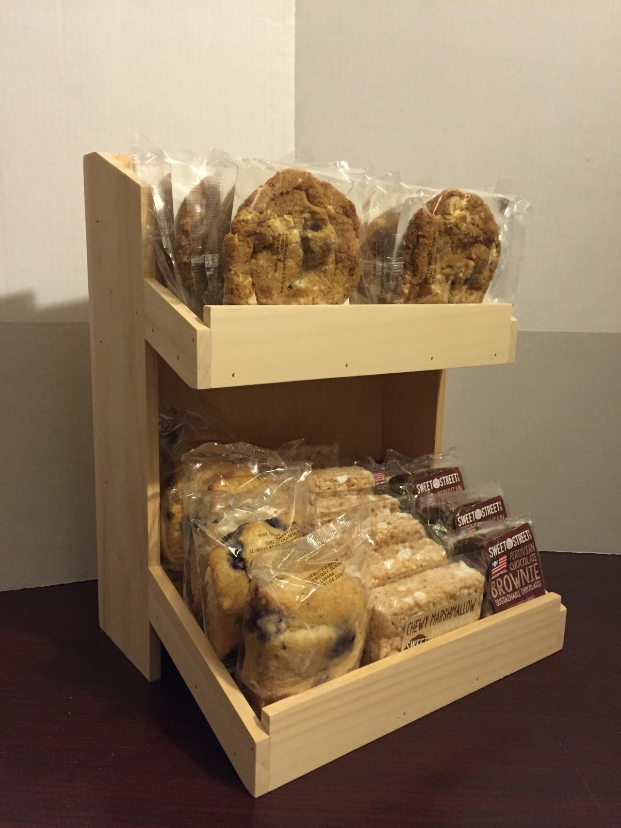 Rustic Wood Retail Store Product Display Fixtures Shelving Rustic Wood Countertop Pop Displays Wood Packaging Diy Food Display Bakery Decor Food Display