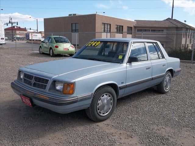 1988 Dodge Aries With Images Dodge Dodge Charger Cars For Sale