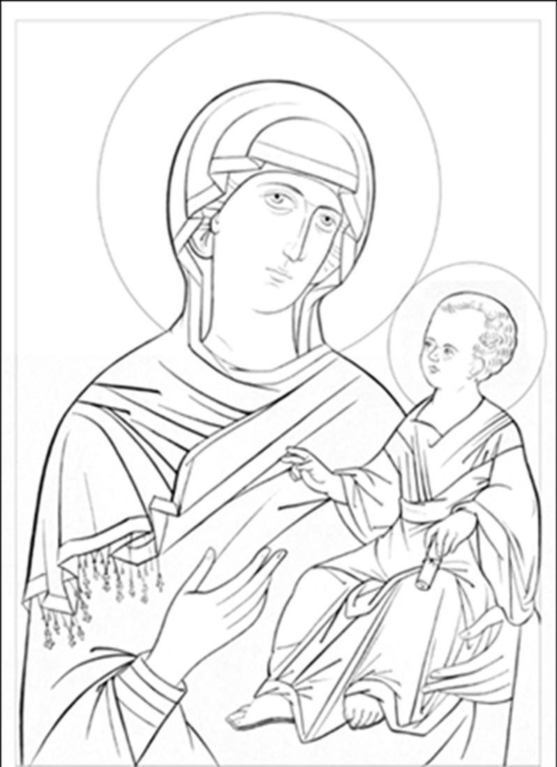 Orthodox Icons Coloring Pages Sketches Cross Art Art Icon