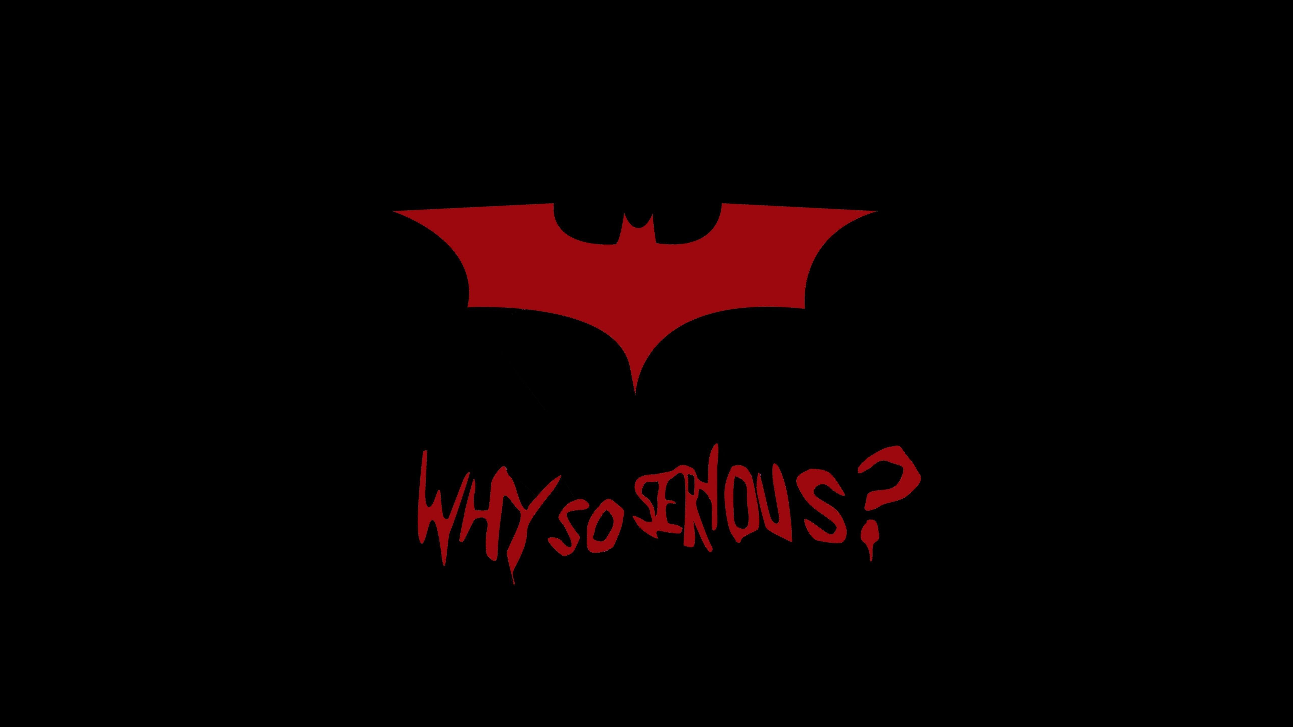 Why So Serious 4k Wallpaper Joker Hd Wallpaper Batman Wallpaper Joker Wallpapers