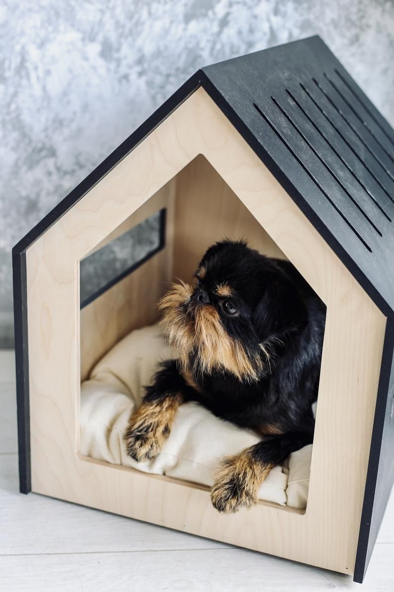 Modern Dog And Cat House Dog Bed Cat Bed Wooden Pet Etsy Dog House Dog Houses Indoor Dog House