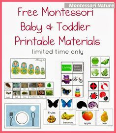 montessori nature free montessori baby toddler printable materials - Free Toddler Printables