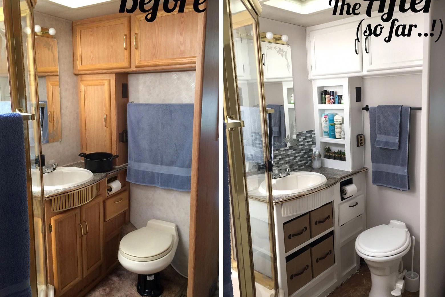 Bathroom Decorating Themes Bedroom Design Turquoise And Grey Bathroom Accessories 20181202 Camper Renovation Remodeled Campers Small Remodel