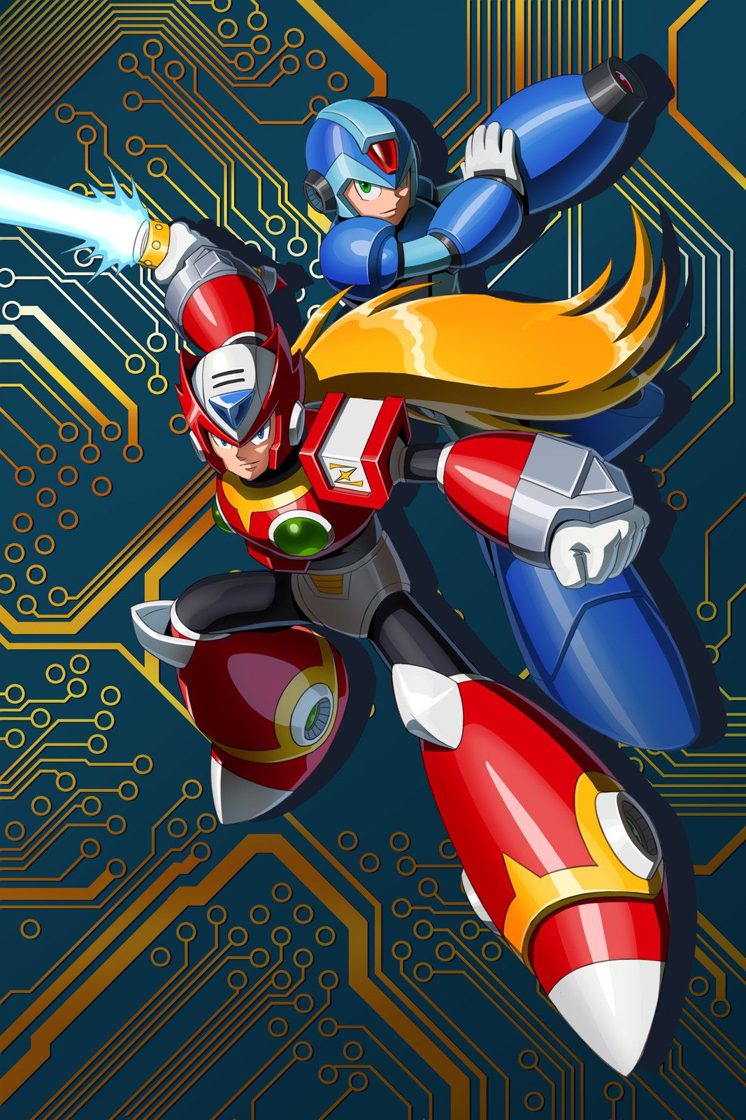 Megaman And Zero By William Liu On Artstation Mega Man Art Mega Man Video Game Characters