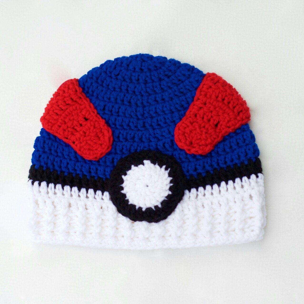 Great ball hat for Pokemon fans! Sizes: Newborn-Adult | Pokemon ...