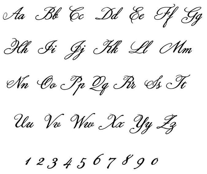 Fancy Cursive Letter T | Wedding Font | Easy craft items ...