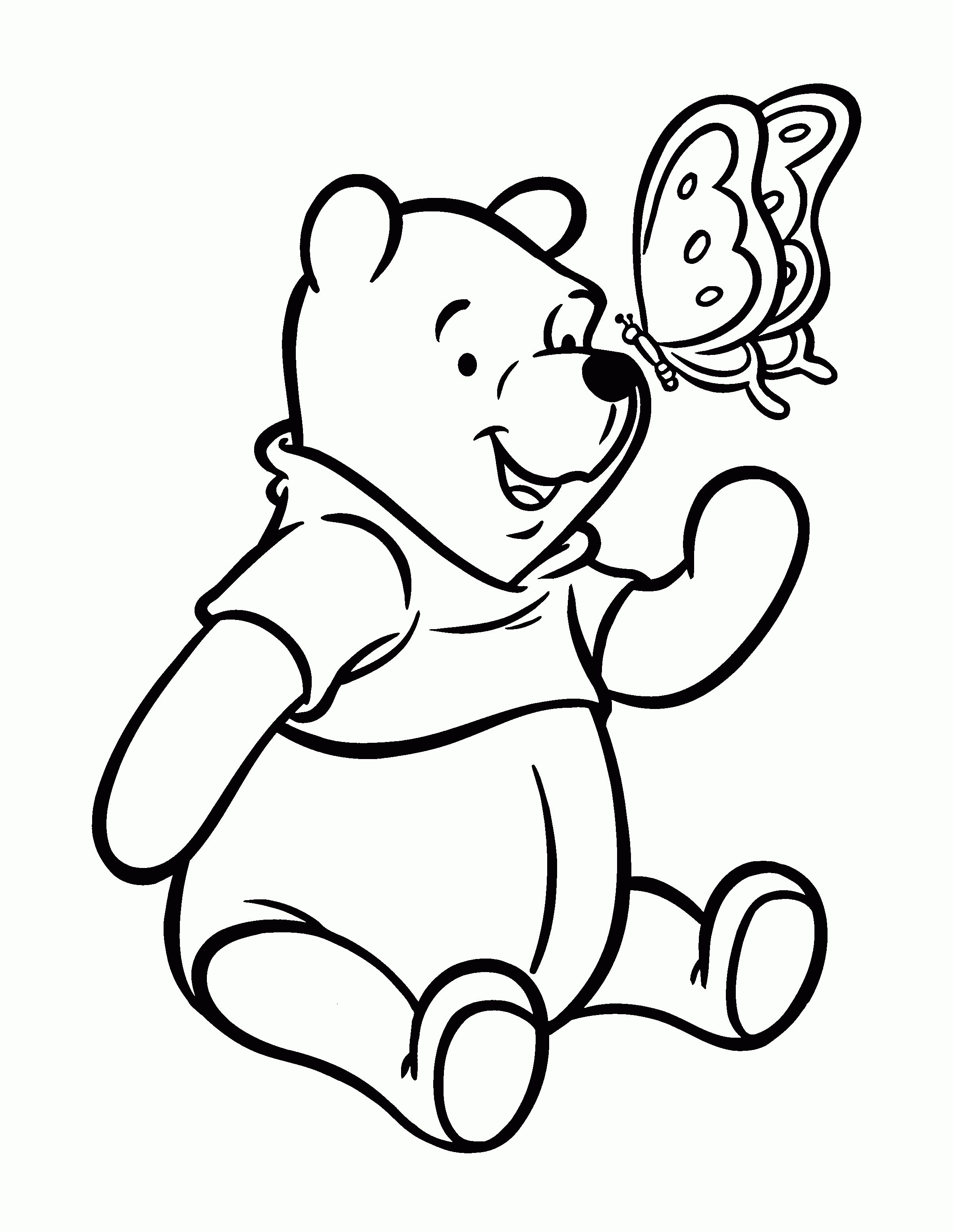 Printable Coloring Pages Winnie The Pooh Bear Coloring Pages