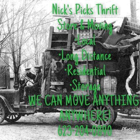 Nicks picks thrift store & moving