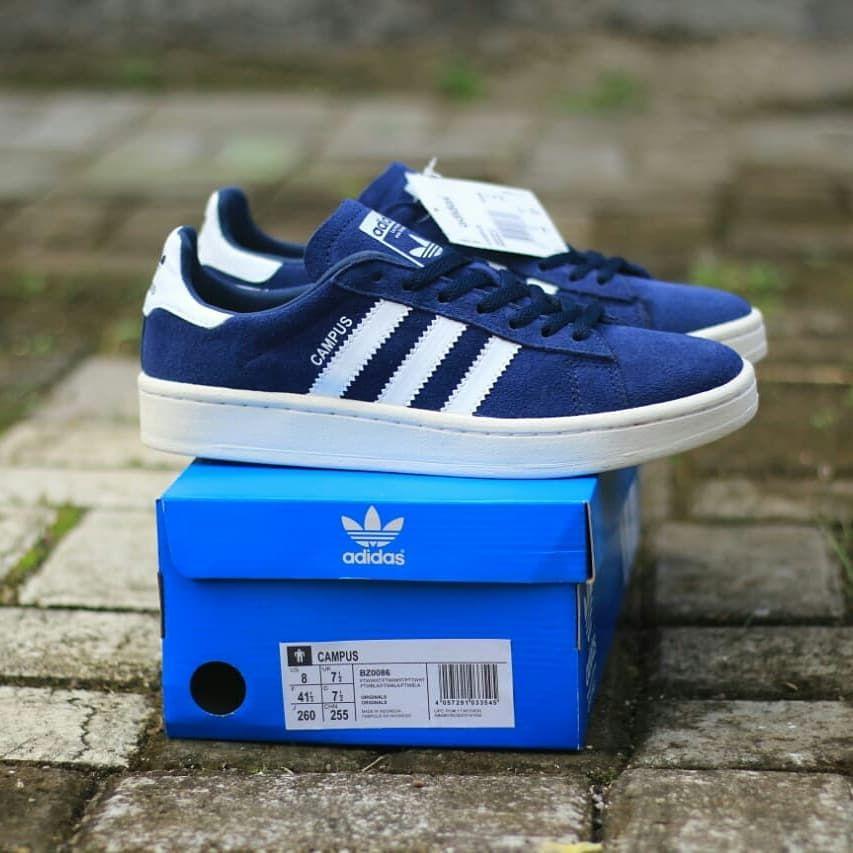 Sepatu Adidas Campus Blue White 100 Original Bnwb Brand New