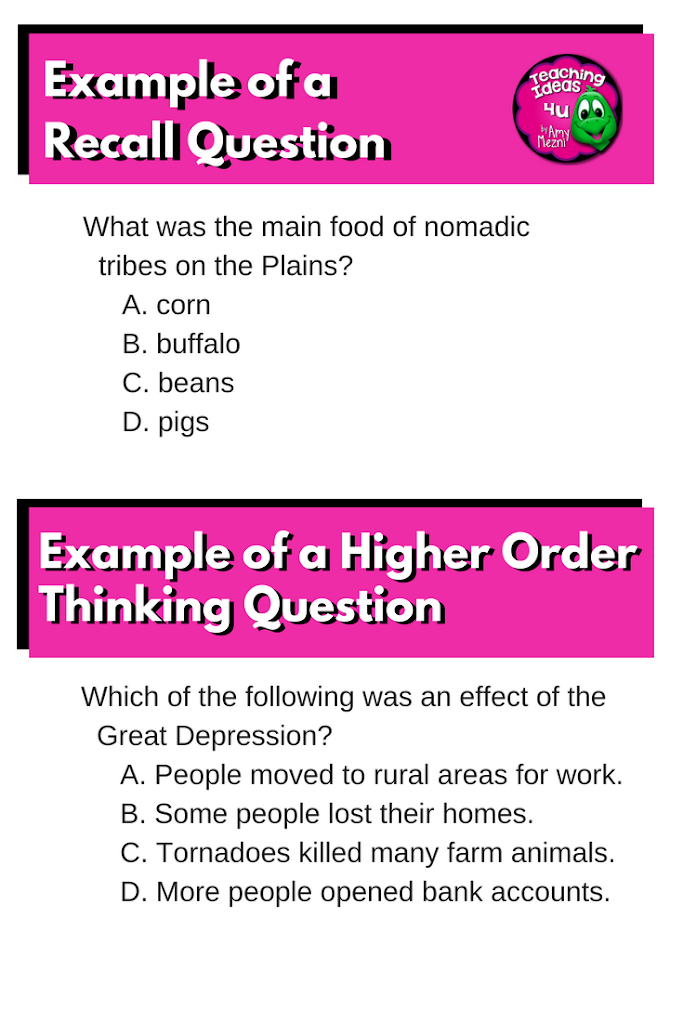 how to write a multiple choice question