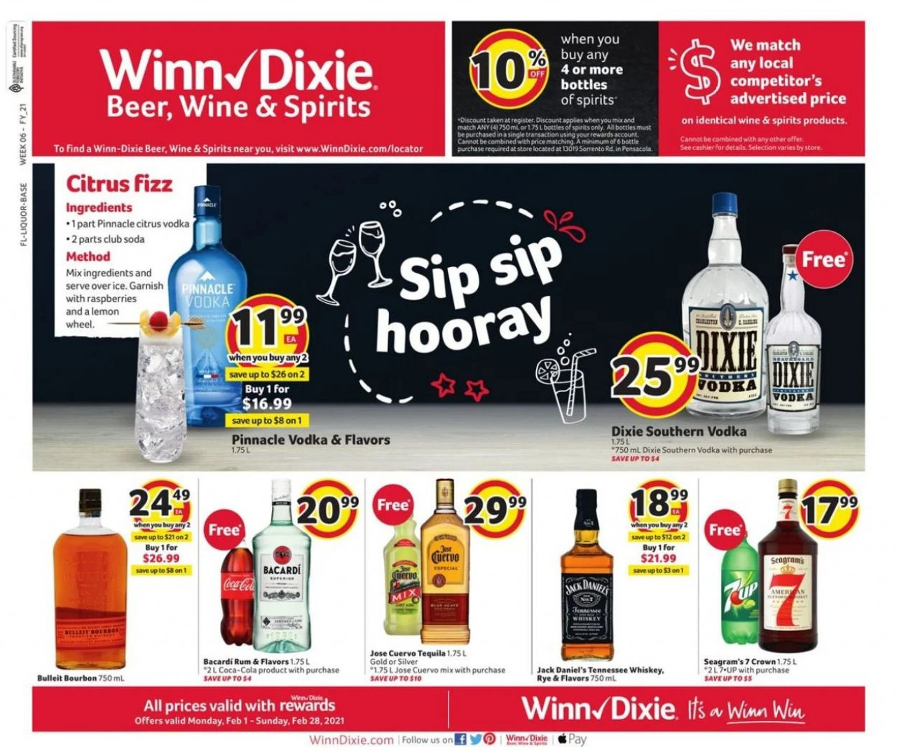 Is Winn Dixie Open Christmas 2021 Winn Dixie Special Ad Beer Wine Amp Spirits 01 02 2021 28 02 2021 Kupino Com Current Ads Online In 2021 Grocery Ads Citrus Vodka Wine And Spirits