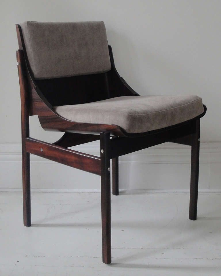 Six Chairs By Jorge Zalszupin From A Unique Collection Of