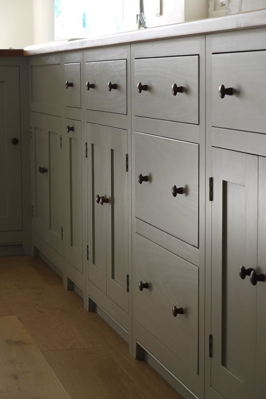 Colour Study Farrow And Ball Lamp Room Gray Shaker Style Kitchen Cabinets Shaker Style Kitchens Kitchen Cabinet Styles