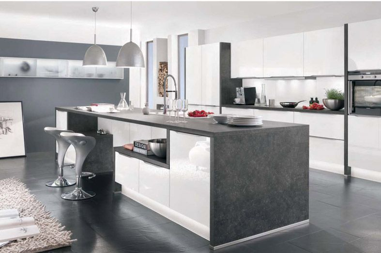 ODINA at Homebase white gloss kitchen | M & P New house | Pinterest ...