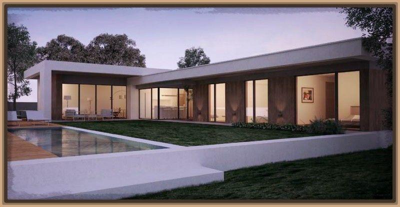 Fotos de fachadas de casas modernas de una planta micasa for Fachadas de casas de una sola planta
