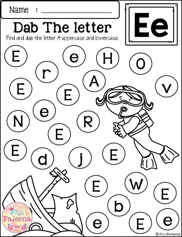free alphabet dab language arts letter recognition preschool worksheets free kindergarten. Black Bedroom Furniture Sets. Home Design Ideas