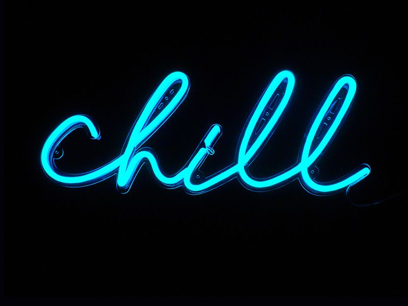 Chill Neon Sign Best Custom Neon Signs For Gifts Office And Home In 2021 Neon Signs Neon Wallpaper Neon Sign Bedroom Cool blue neon wallpaper
