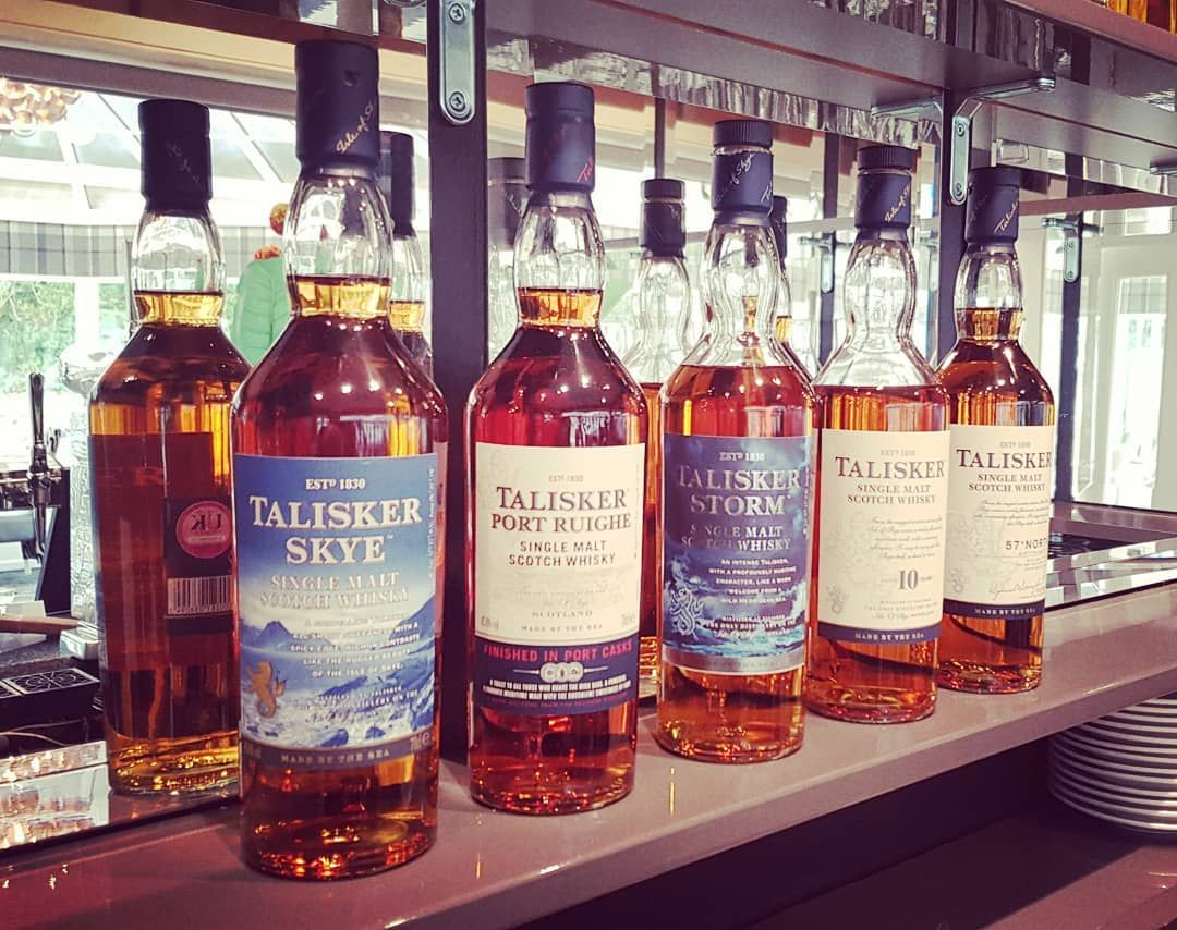 We Love Our Talisker Selection At The Skeabost House Hotel This Whisky Is Truly Made By The Sea Which One Is Your Favo Whisky Wine Bottle Rose Wine Bottle