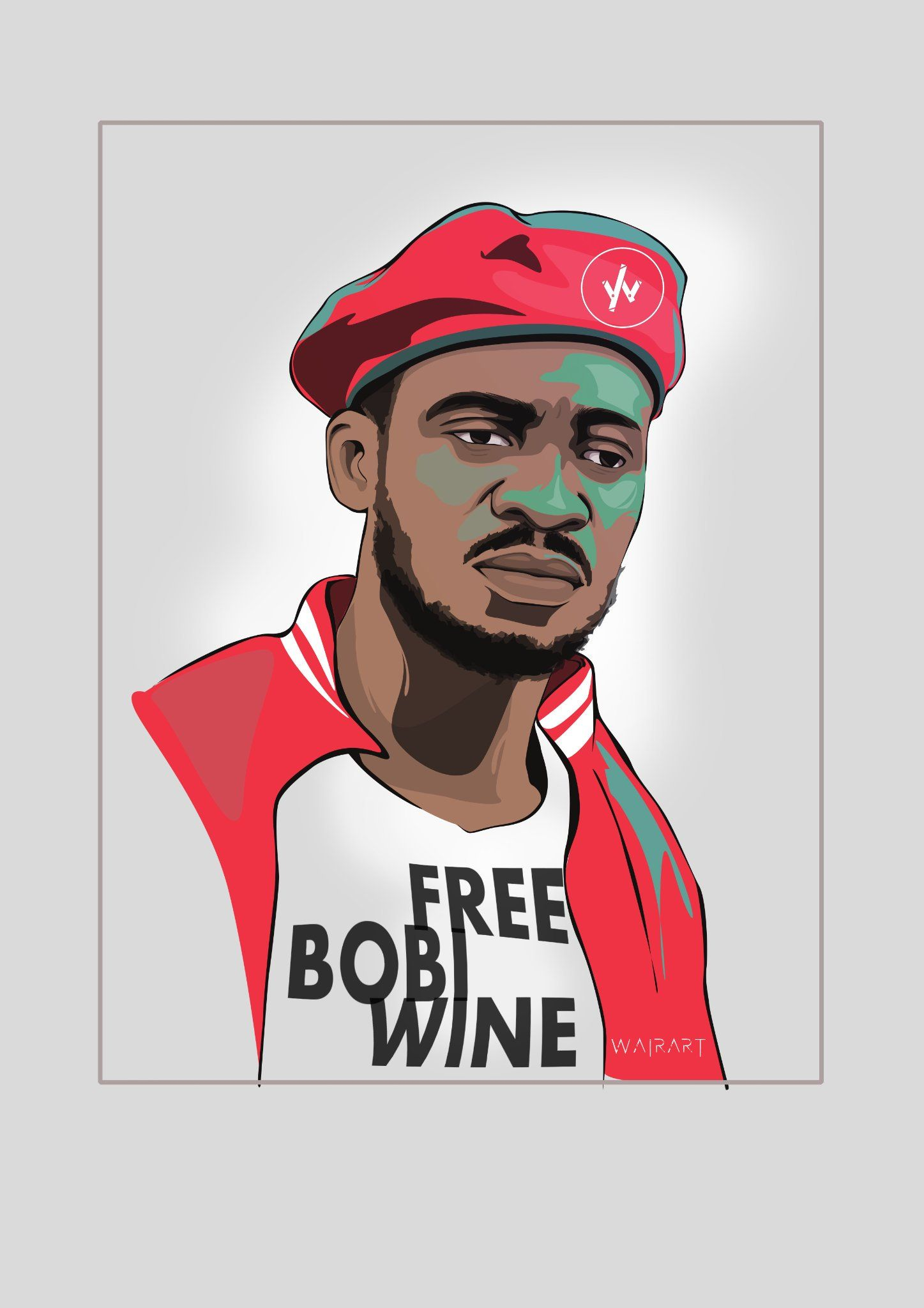 He Bobiwine In A Protest To Release The Ghetto President Freebobiwine Uganda Wairart Peoplepower